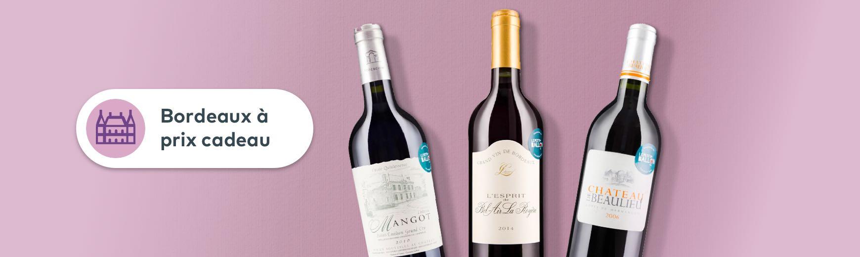 Les Bordeaux à prix cadeau
