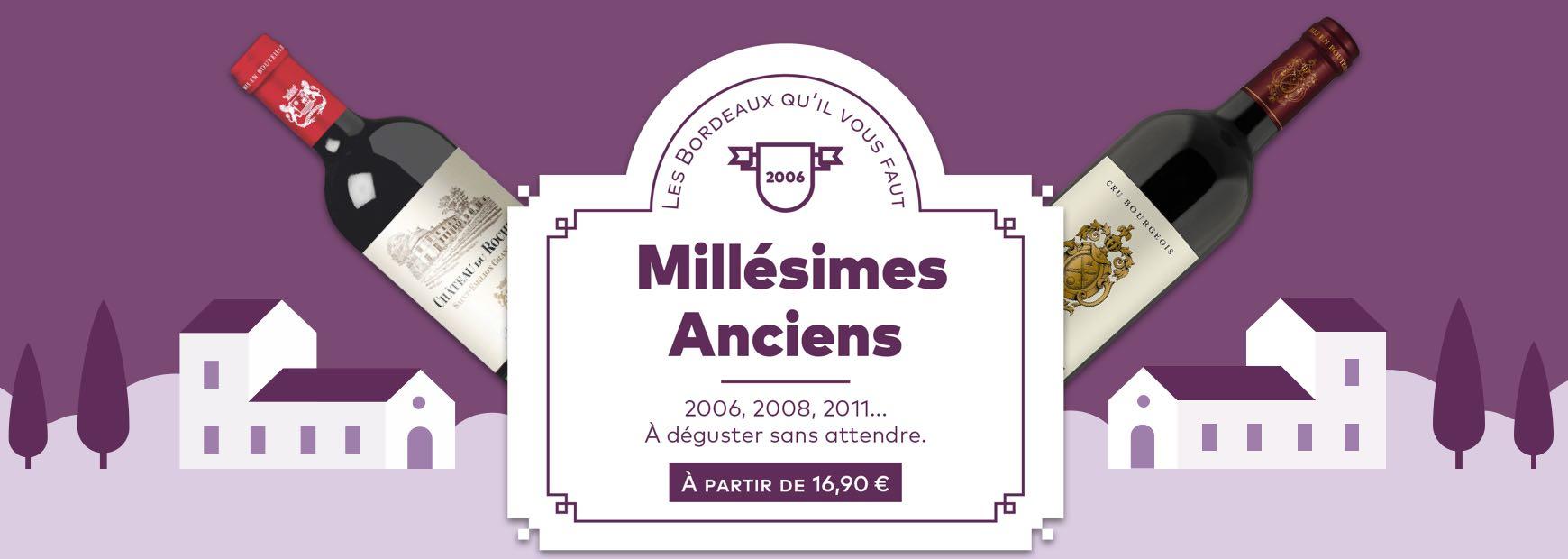 Les millésimes anciens
