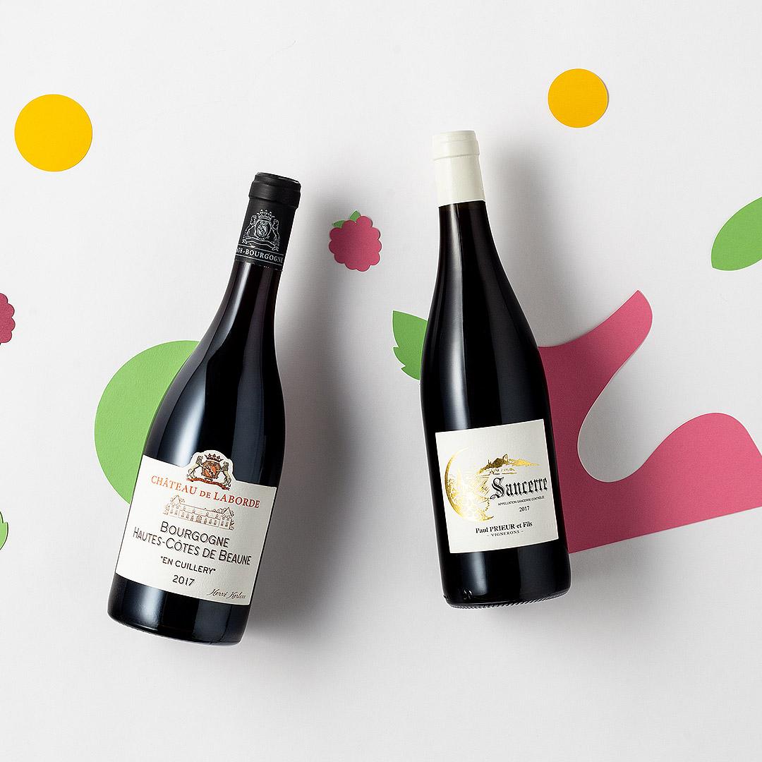 Formule Bel Age -  Sélection mensuelle 5 Château de Laborde Bourgogne Hautes Côtes de Beaune En Cuillery 2017 Rouge 2017 et Paul Prieur et fils Sancerre rouge   Rouge 2017