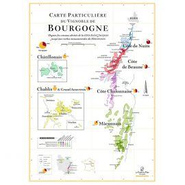 Affiche des vins de Bourgogne