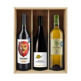 Trio des abonnés - 3 bouteilles & Caisse bois