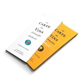 Carte pliable - Les vins de Bordeaux