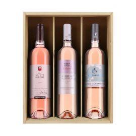 Rosés de Provence - Caisse bois 3 bouteilles
