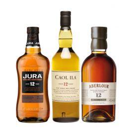Trio whiskies écossais - 3 bouteilles & étuis