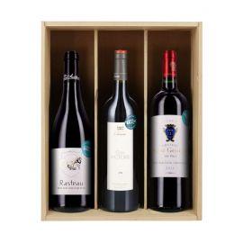 Vieux millésimes - 3 bouteilles & Caisse bois
