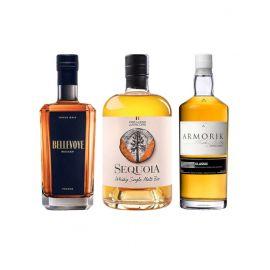 Trio whiskies français - 3 bouteilles
