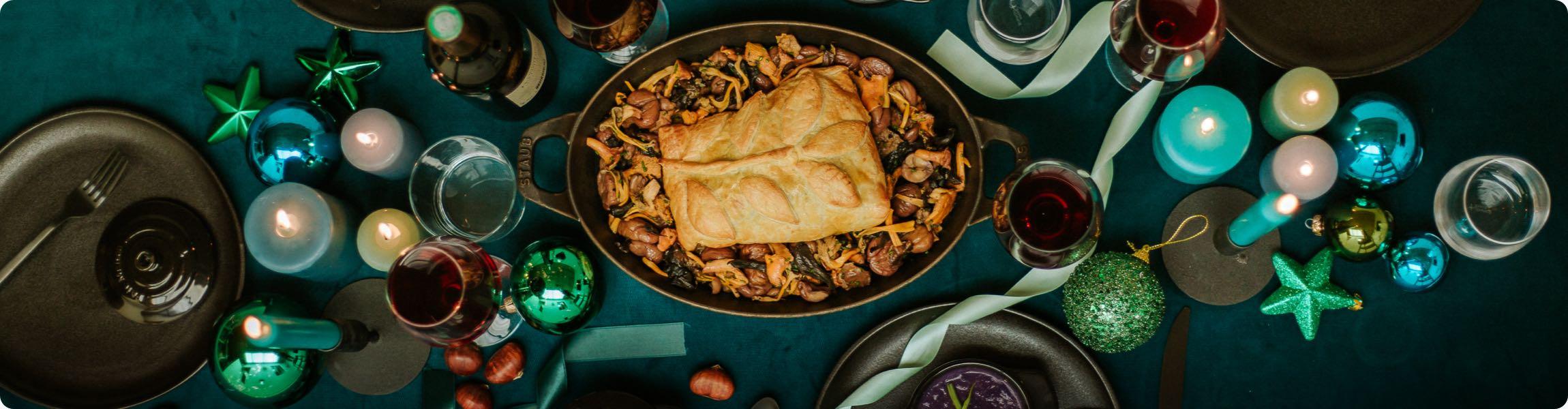 Filet de bœuf en croûte, champignons, châtaignes